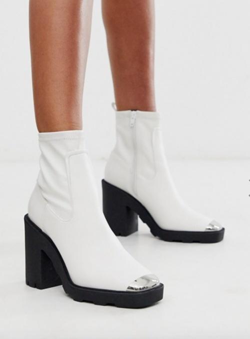 Asos Design - Bottines blanches