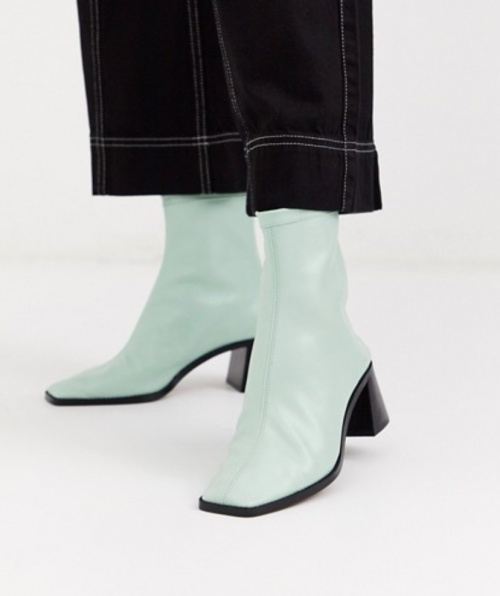 Asos Design - Bottines effet chaussettes en simili cuir