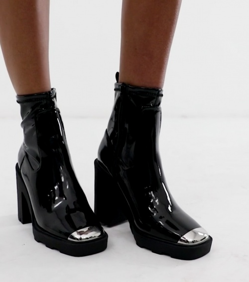 Asos Design - Bottines embout métallique