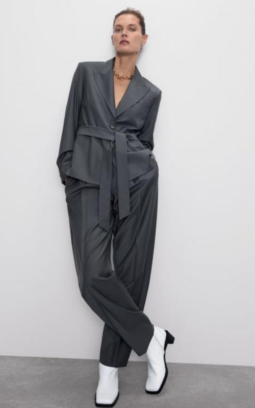 Zara - Veste tailleur ceinturée