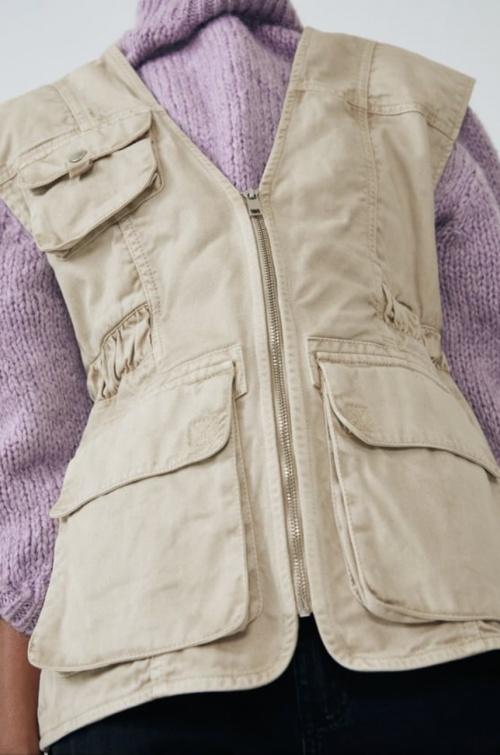 Zara - Gilet sans manches avec poches