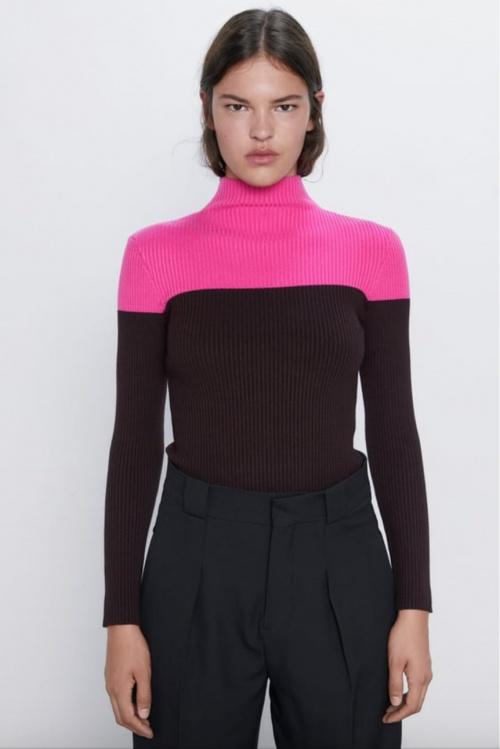 Zara - Pull bicolore