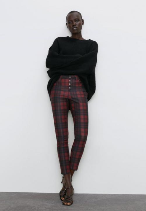 Zara - Pantalon skinny à carreaux
