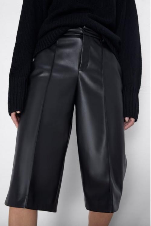 Zara - Bermuda simili cuir