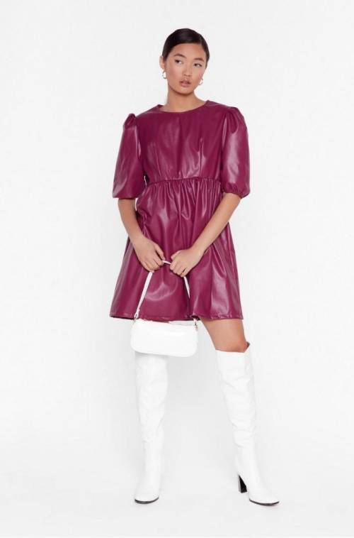 Nasty Gal - Robe simili cuir