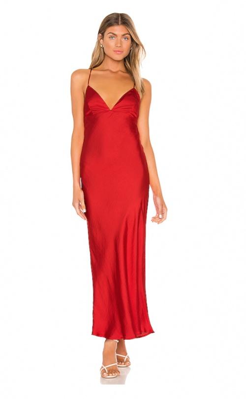 Bardot - Robe longue rouge