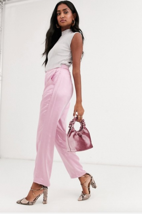 Atoir - Pantalon droit rose