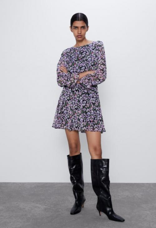 Zara - Robe mini imprimée