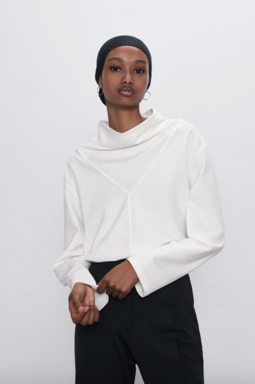 Zara - Blouse drapée