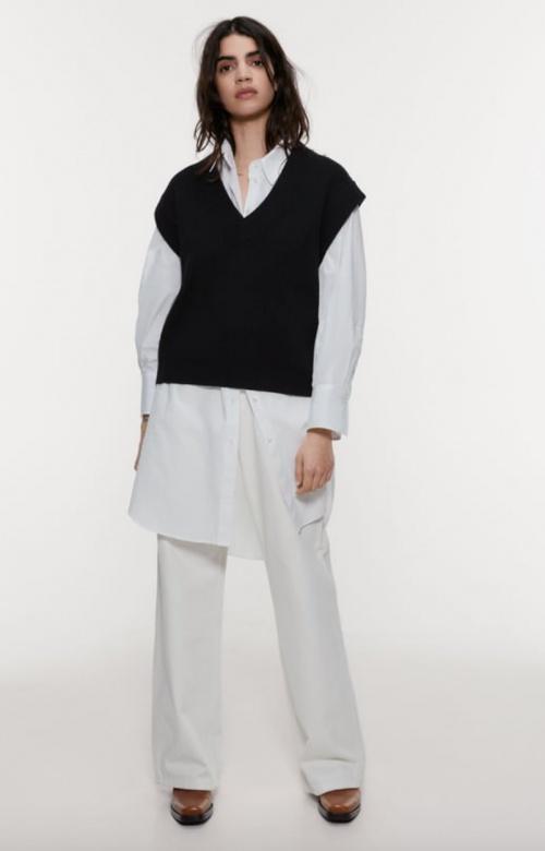Zara - Pull sans manches oversize