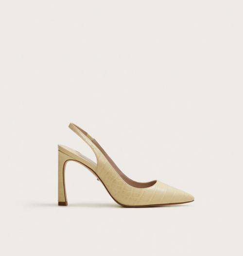 Mango - Chaussures pointues effet croco