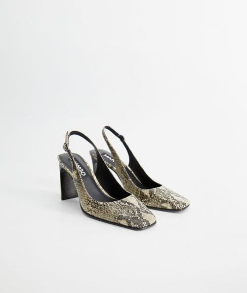 Mango - Chaussures à imprimé serpent