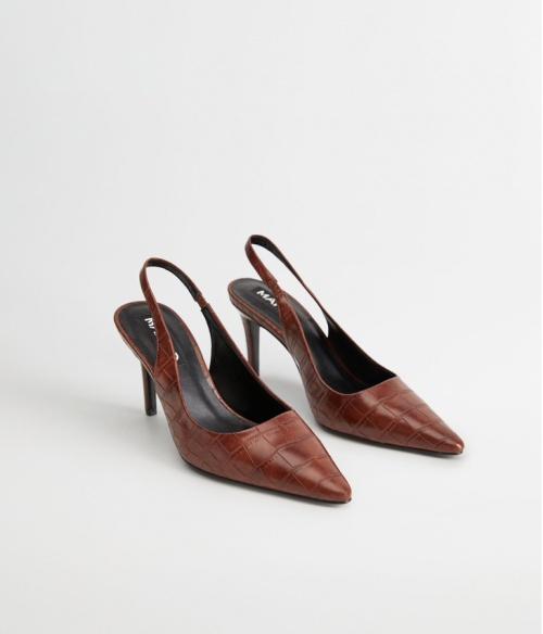 Mango - Chaussures effet croco