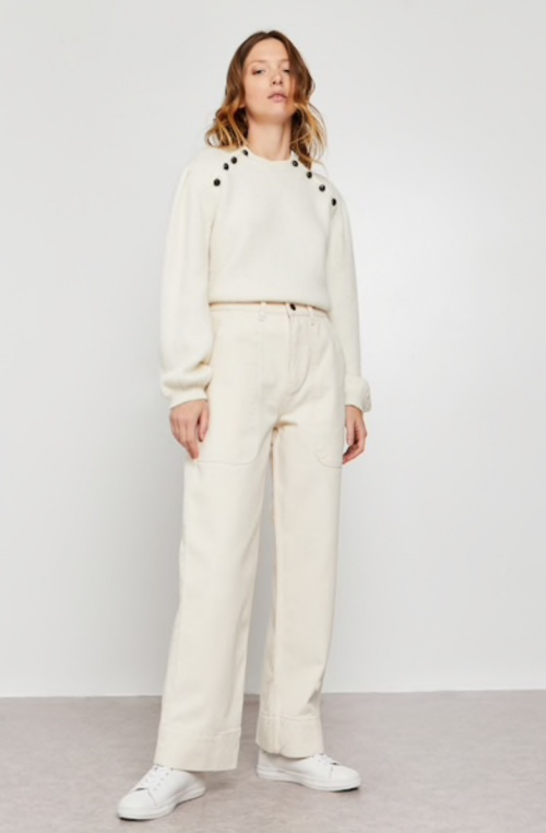 Monoprix - Pantalon large blanc
