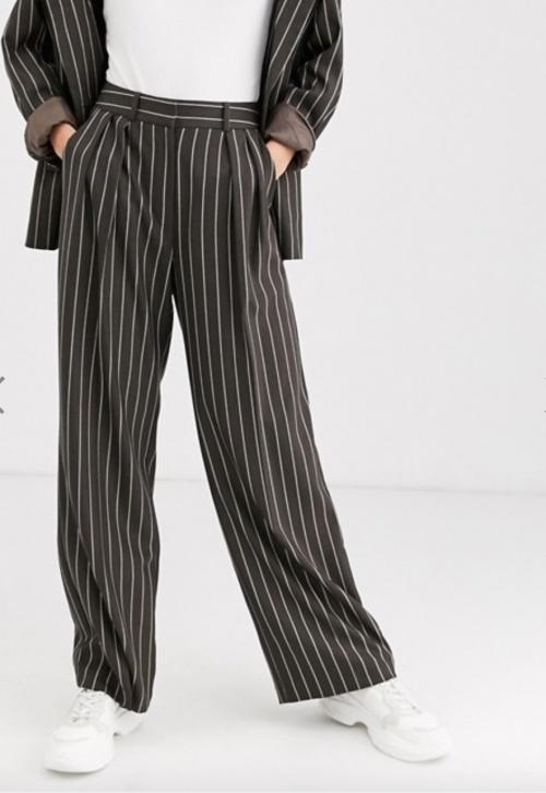Asos Design - Pantalon tailleur à rayures
