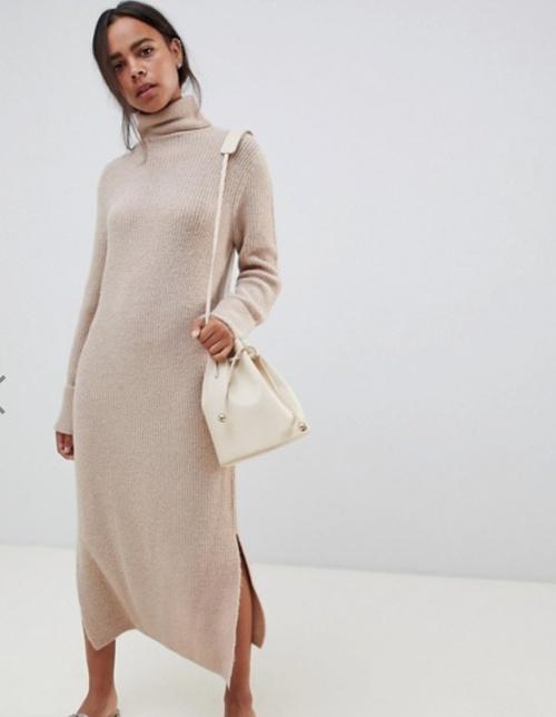 Asos Design - Robe pull longue