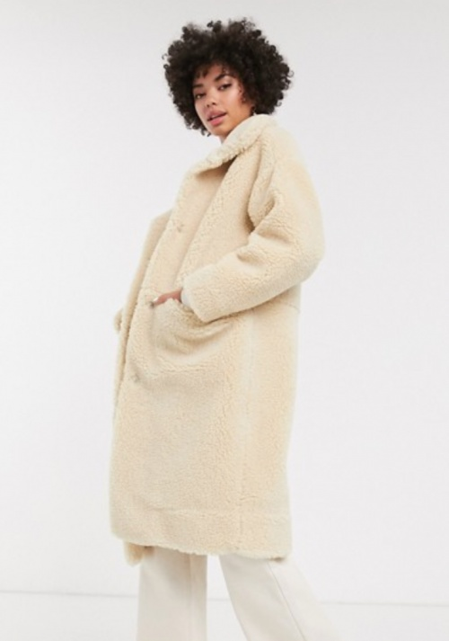 Monki - Manteau doudou