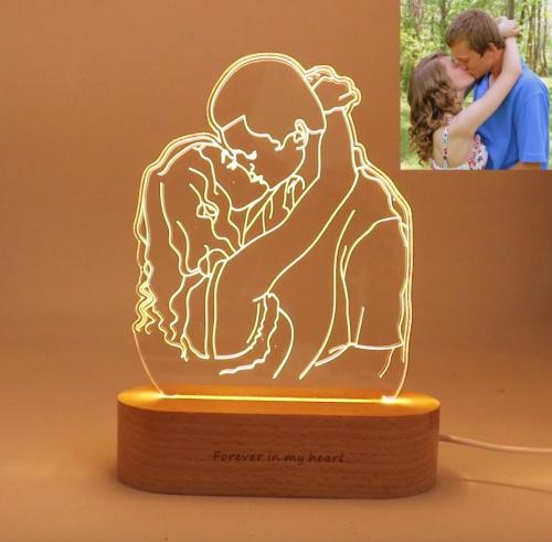 IWAN - Lampe Photo 3D personnalisée