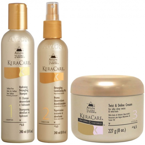 Keraca - Coffret Shampoing, après-shampoing et démêlant