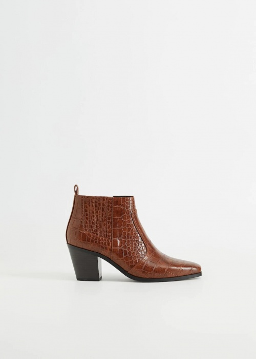 Mango - Bottines effet croco