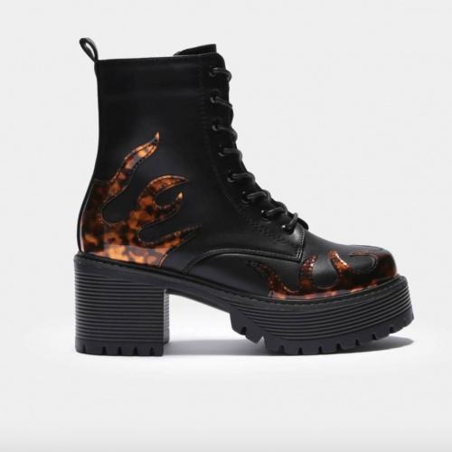 Koi Footwear - Bottines détails flamme