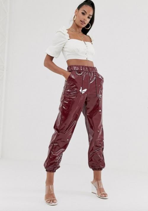 Asos Design - Pantalon vinyle
