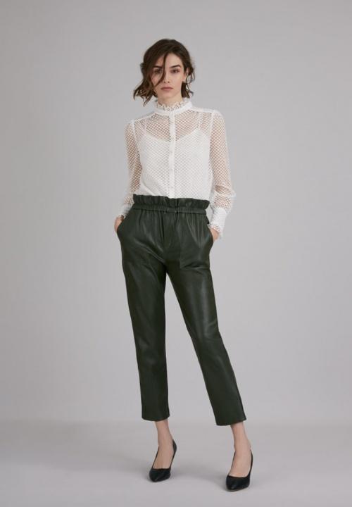 SUNCOO - Pantalon simili cuir paper bag
