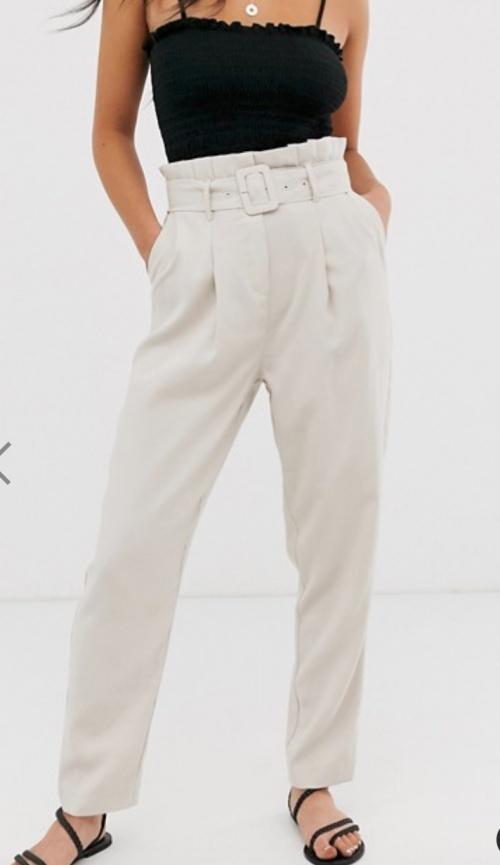 New Look - Pantalon paper bag