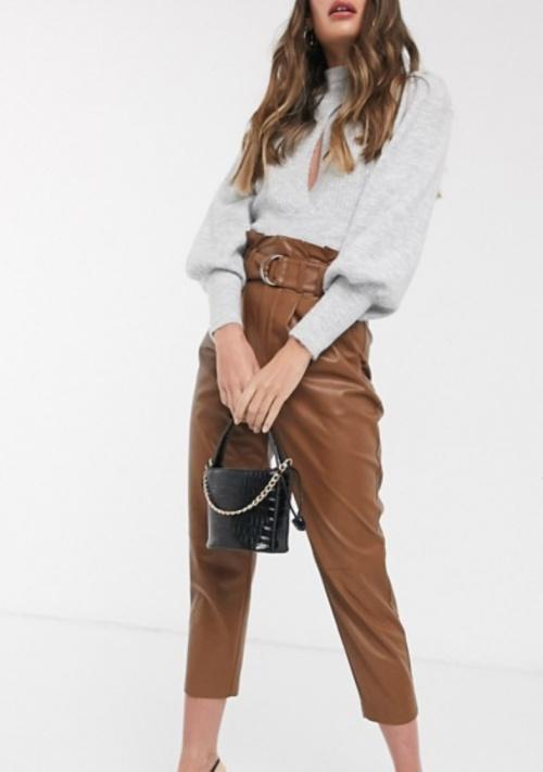 Stradivarius - Pantalon simili cuir