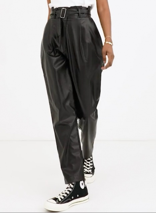 Pieces - Pantalon simili cuir
