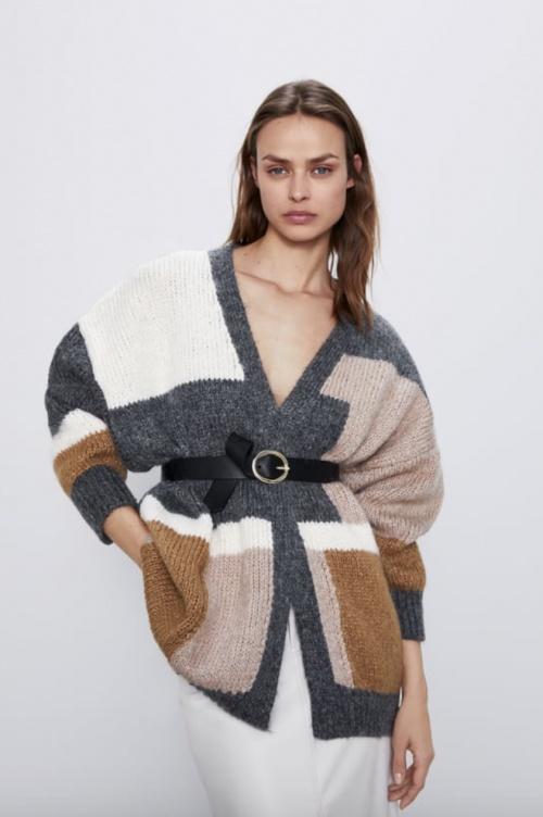 Zara - Cardigan colorblock