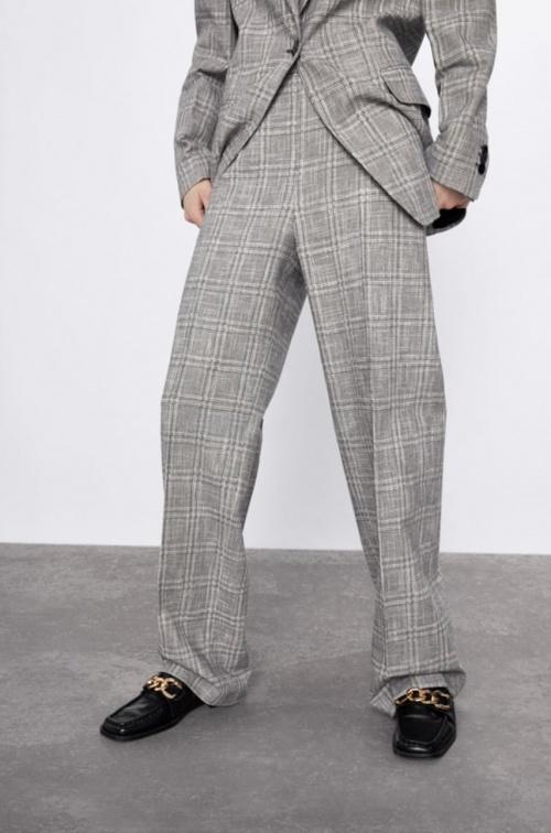 Zara - Pantalon tailleur à carreaux