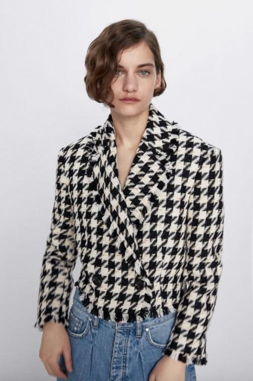 Zara - Veste courte en tweed