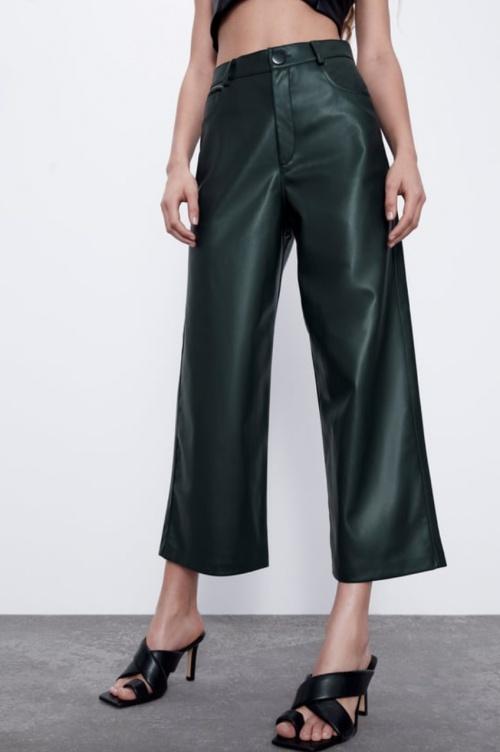Zara - Jupe-culotte simili cuir