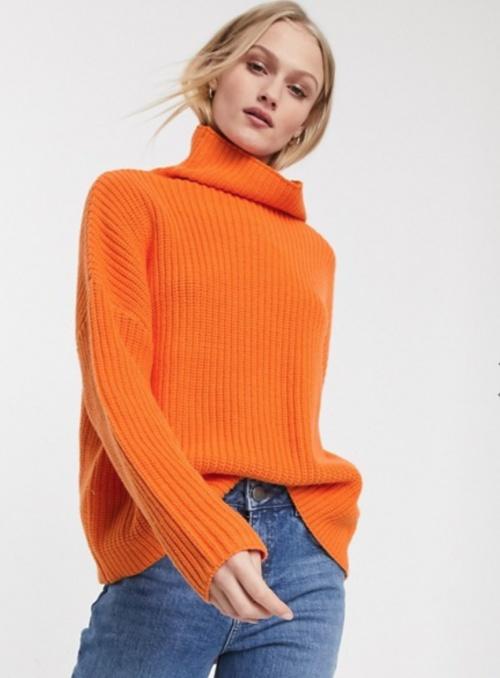 Selected Femme - Pull orange