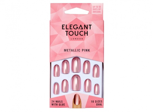 Ongles Colorés Elegant Touch – Metallic Pink