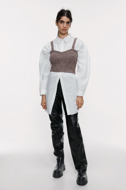 Zara - Top en maille