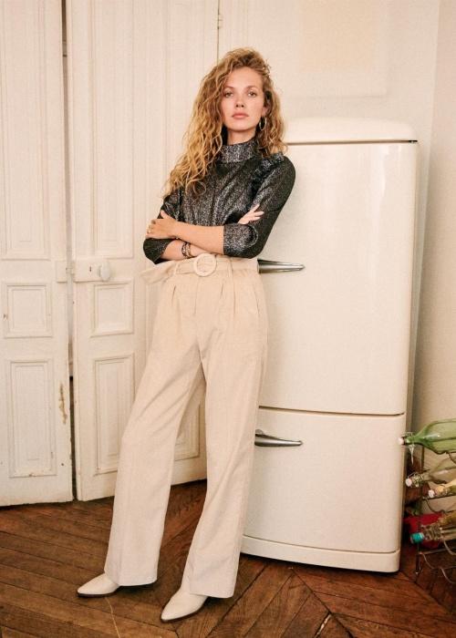 Sézane - Pantalon taille haute