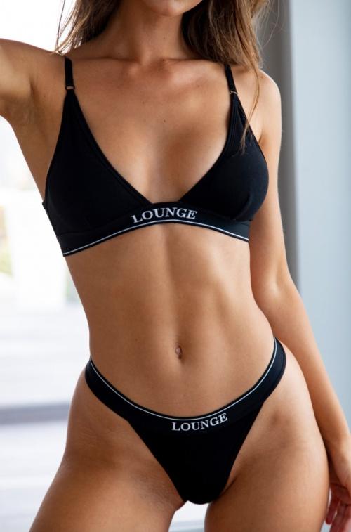 Lounge - Ensemble noir coton
