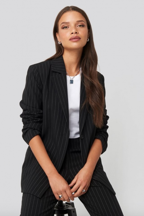 NA-KD - Veste tailleur rayures