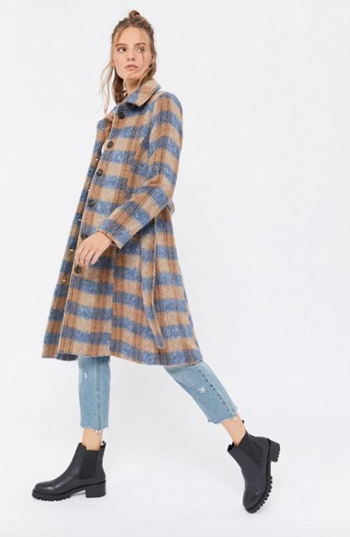 Urban Outfitters - Manteau à carreaux