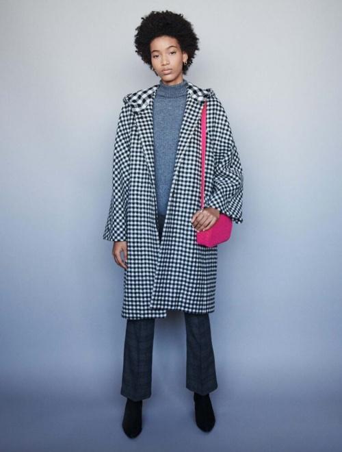 Maje - Manteau à carreaux