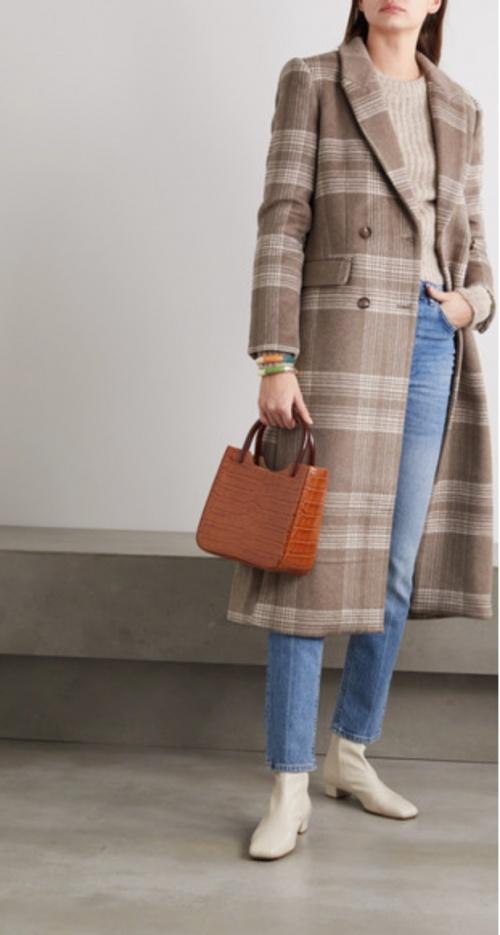 Reformation - Manteau à carreaux