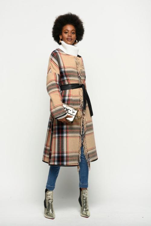 Pinko - Manteau à carreaux détails