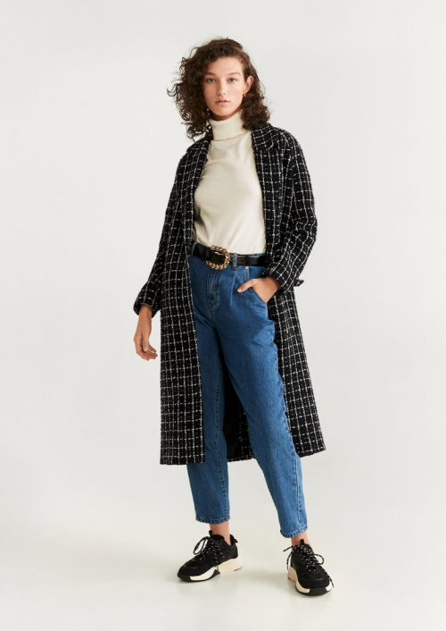 Mango - Manteau tweed à carreaux