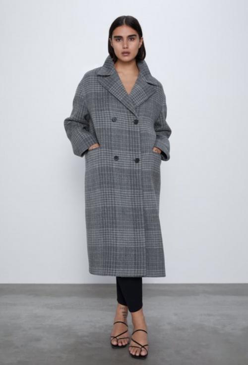 Zara - Manteau à carreaux