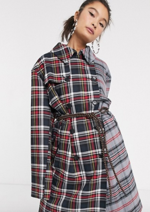 COLLUSION - Manteau à carreaux