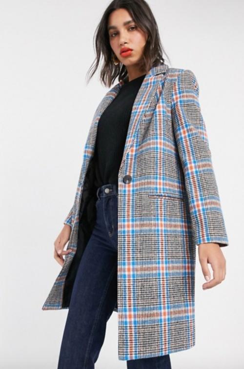 Miss Selfridge - Manteau à carreaux