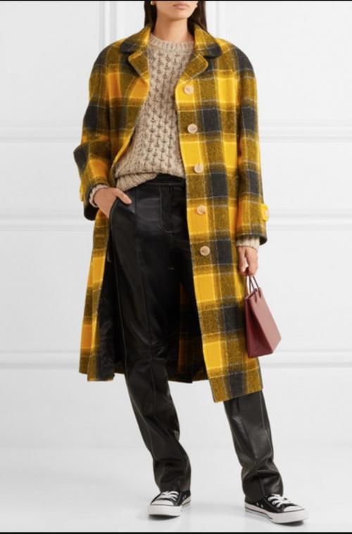 ALEXACHUNG - Manteau à carreaux