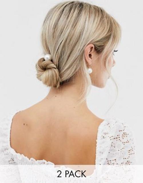 DesignB - Exclusivité - Lot de 2 épingles à cheveux avec perles et strass